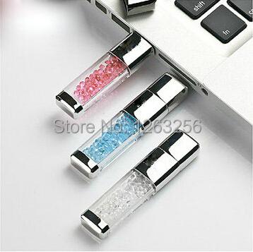 Гаджет  Hot!! 8GB 16GB 32GB 64GB Usb Flash Drive Metal Rectangle Swarovski Crystal Pen Drive Memory Card Pendrive Free Shipping None Компьютер & сеть