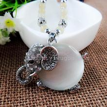 fashion jewlery opals elephants sweater chain Exotic wind restoring ancient ways is long necklace fashion necklace free shipping