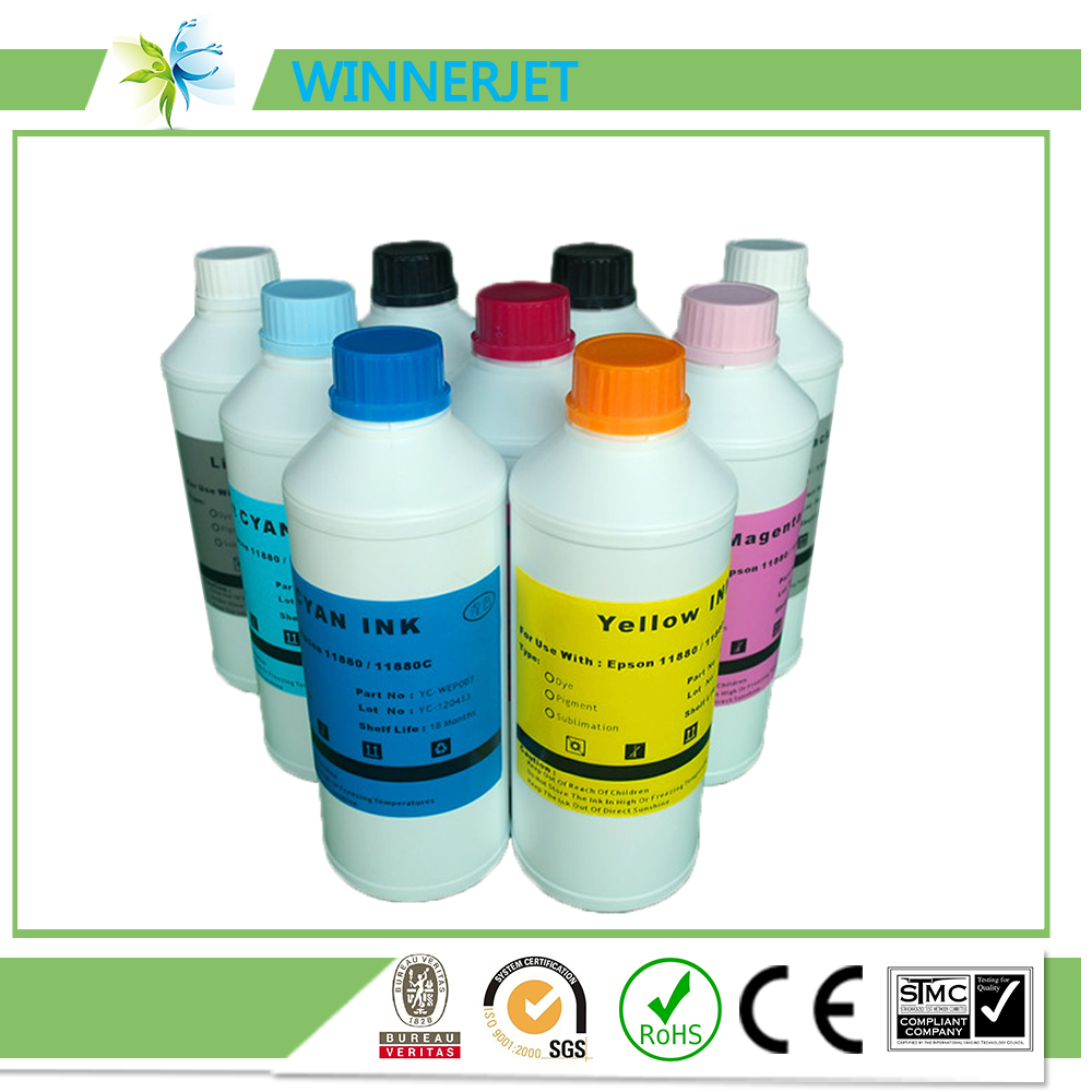 great heat transfer rate sublimation inks used for Epson stylus 11880 11880c printers, good quality sublimation ink for epson(China (Mainland))