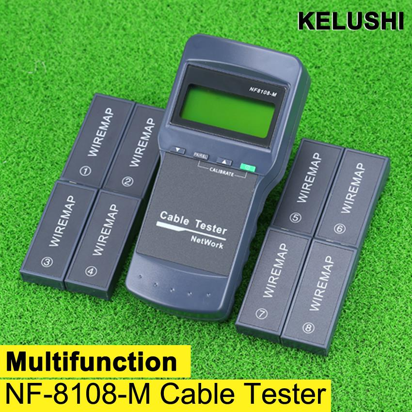 Multifunction Network LAN Phone Cable Tester Meter Cat5 RJ45 Mapper 8 pc Far End Test Jack English operation(China (Mainland))