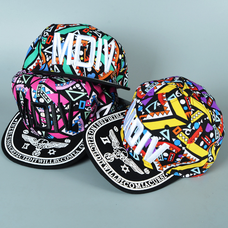 2015 Vogue Nightclub graffiti MDIV Women hip hop hat Vintage gorras planas sports kids baseball caps Parent child casquette hats(China (Mainland))
