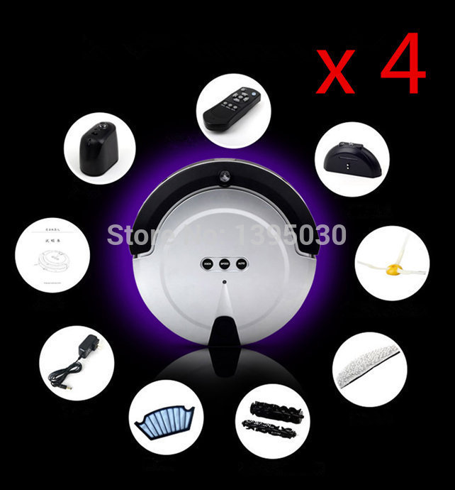 4PCS/Lot Free Shipping By DHL Hot Sale KRV208 Intelligent Household Ultra-Thin Robot Smart Efficient Automatic Vacuum Cleaner(China (Mainland))