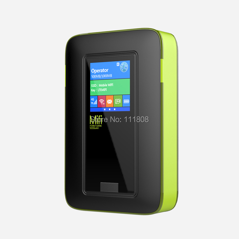 New Mini GSM Car Wireless 4G Wifi Router LTE Mifi Wifi Modem with Dual SIM Card Slot 5200mAh Power Bank Global Unlock LR513A(China (Mainland))