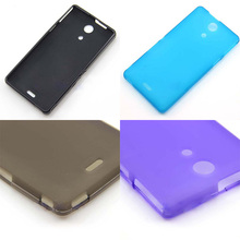 Free Shipping TPU Silicone Gel Case Cover For Sony Xperia ZR C5502 C5503 M36h Cell Phone Protective Cover Bags matte soft