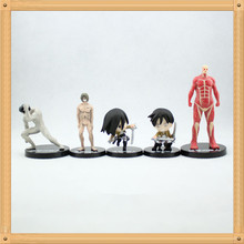 High Quality Japanese Anime Attack on Titan PVC action figures shingeki no kyojin Figure Mikasa Ackerman 5pcs/set