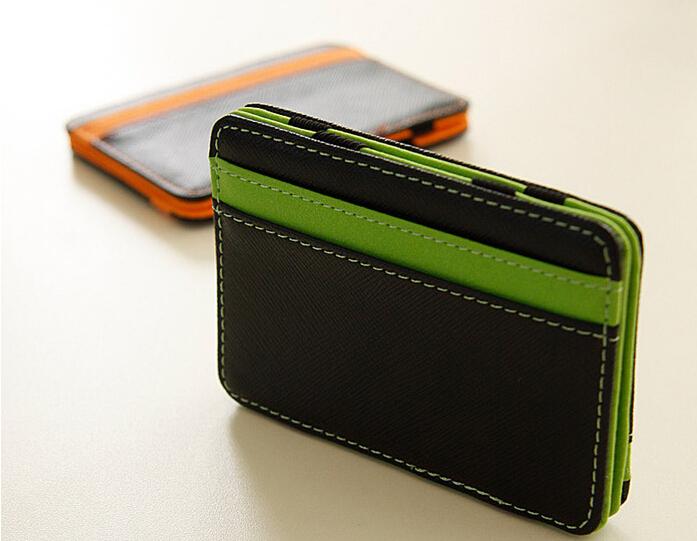 2014 South Korea magic wallet New Mens MAGIC MONEY clips for men purse orange green size