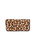Designer Luxury Leopard Print Purse Women Fashion Hoursehair Leather Wallet Ladies Trendy New Zipper Money Clip