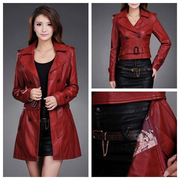 Compare Prices on Ladies Long Leather Jackets- Online Shopping/Buy ...