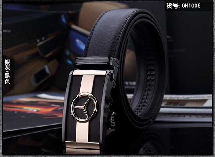 2015 Special Offer Top Fashion Adult Brand Belts For Men Men's Business Automatic Buckle Leather Mercedes -standard(China (Mainland))