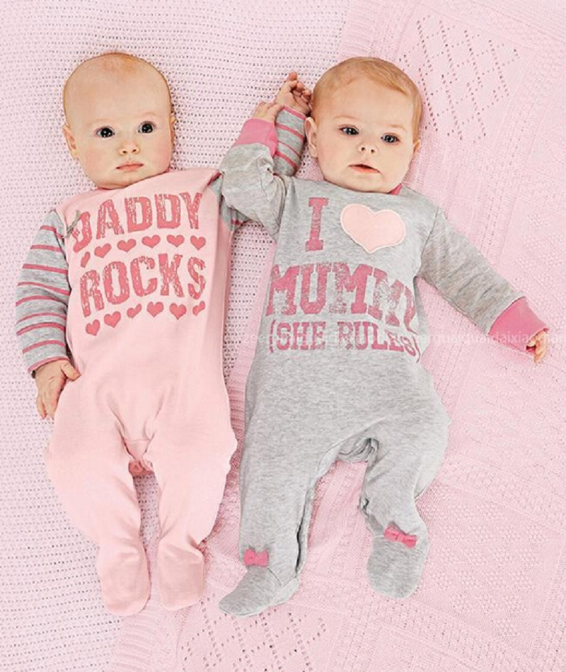 Baby Romper Clothes Cotton Long Sleeve Letter Daddy Mummy Baby Rompers Baby Boy Clothing Baby Girl Clothes Spring Roupa De Bebe
