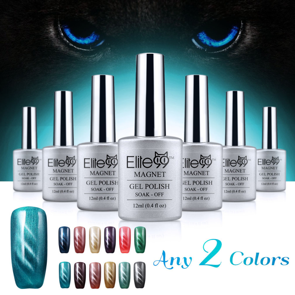 Elite99 12ml 3D UV LED Cat Eye Gel Polish Easy Use With Magnet Comes in The Kit For Fast Delivery Gel of Varnishes(China (Mainland))