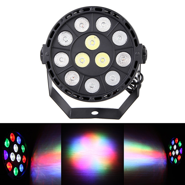 Flat led par stage light rgbw 12W disco party lights laser dmx luz Dj effect controller Dj Equipment projector luces discoteca