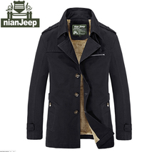 Winter Jackets Men Brand Clothing Men Coat Slim Fit size M-5XL Height Warm Cotton NianJeep Military Outerwear Slim Fit  Classic (China (Mainland))