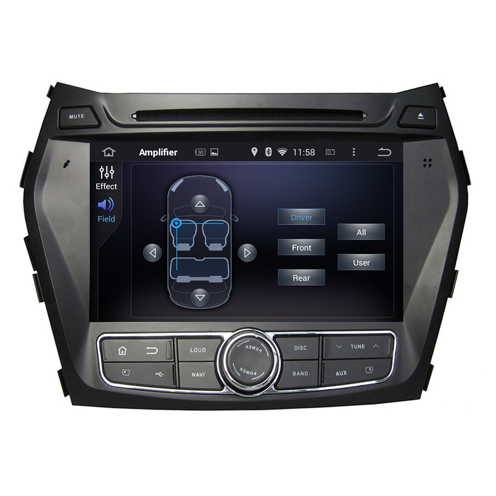 4 Core HD For Hyundai Santa Fe IX45 2013 2014 Car DVD Android 5.1.1 GPS Navigation Bluetooth MP3 CD AM FM SD Built-in WIFI IPod