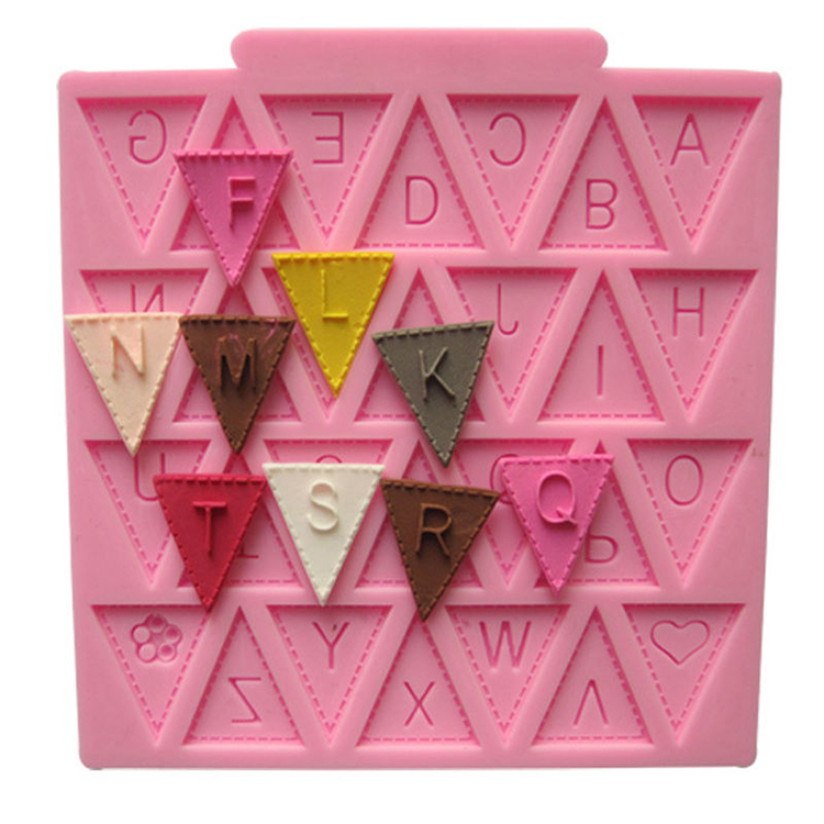 Letter Flag Bunting Mold Cake Silicone Fondant Decorating Sugarcraft Muffin Jelly Baking Cupcake Cookie Chocolate Mould(China (Mainland))