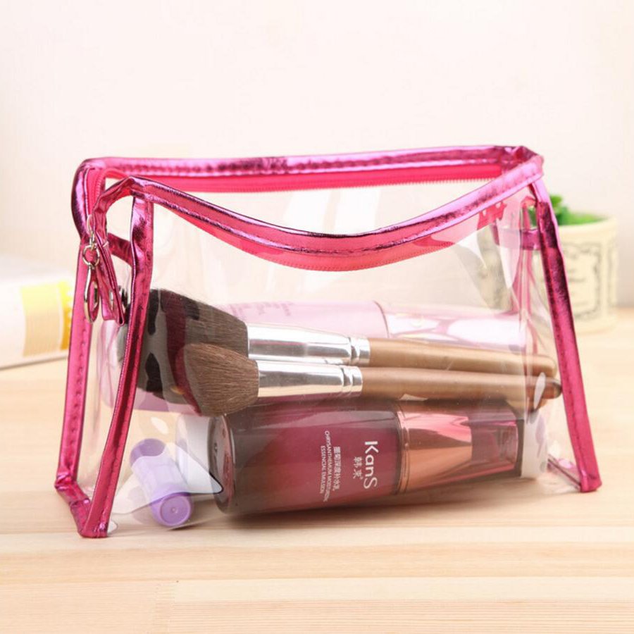 Drop Shipping Professional Cosmetic Case Bag Large Transparent Capacity Portable Women Makeup cosmetic bags storage travel bags(China (Mainland))