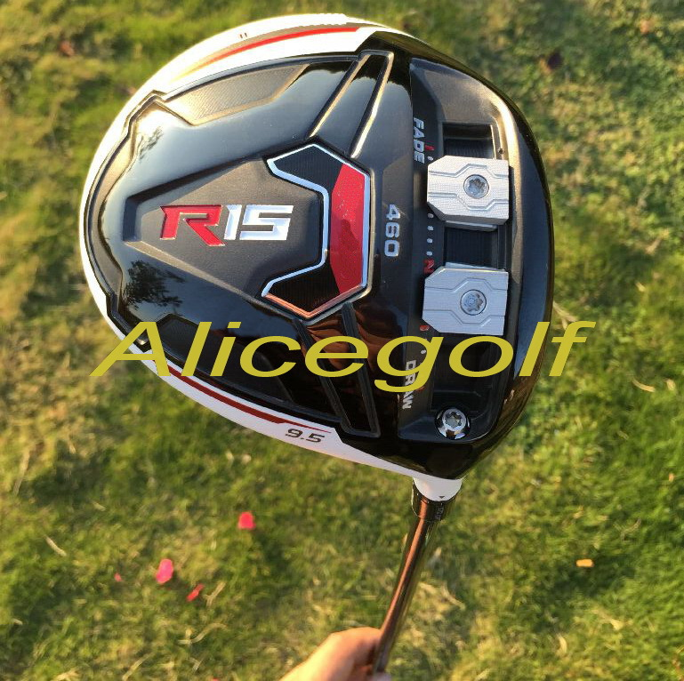 New golf driver top quality R15 driver 460cc face 9.5 or 10.5 degree with speeder 57 stiff shaft golf clubs headcover(China (Mainland))