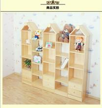 Children lockers pine-wood bookcase bookcase storage cabinets wooden steeple children creative combination bookcase shipping(China (Mainland))