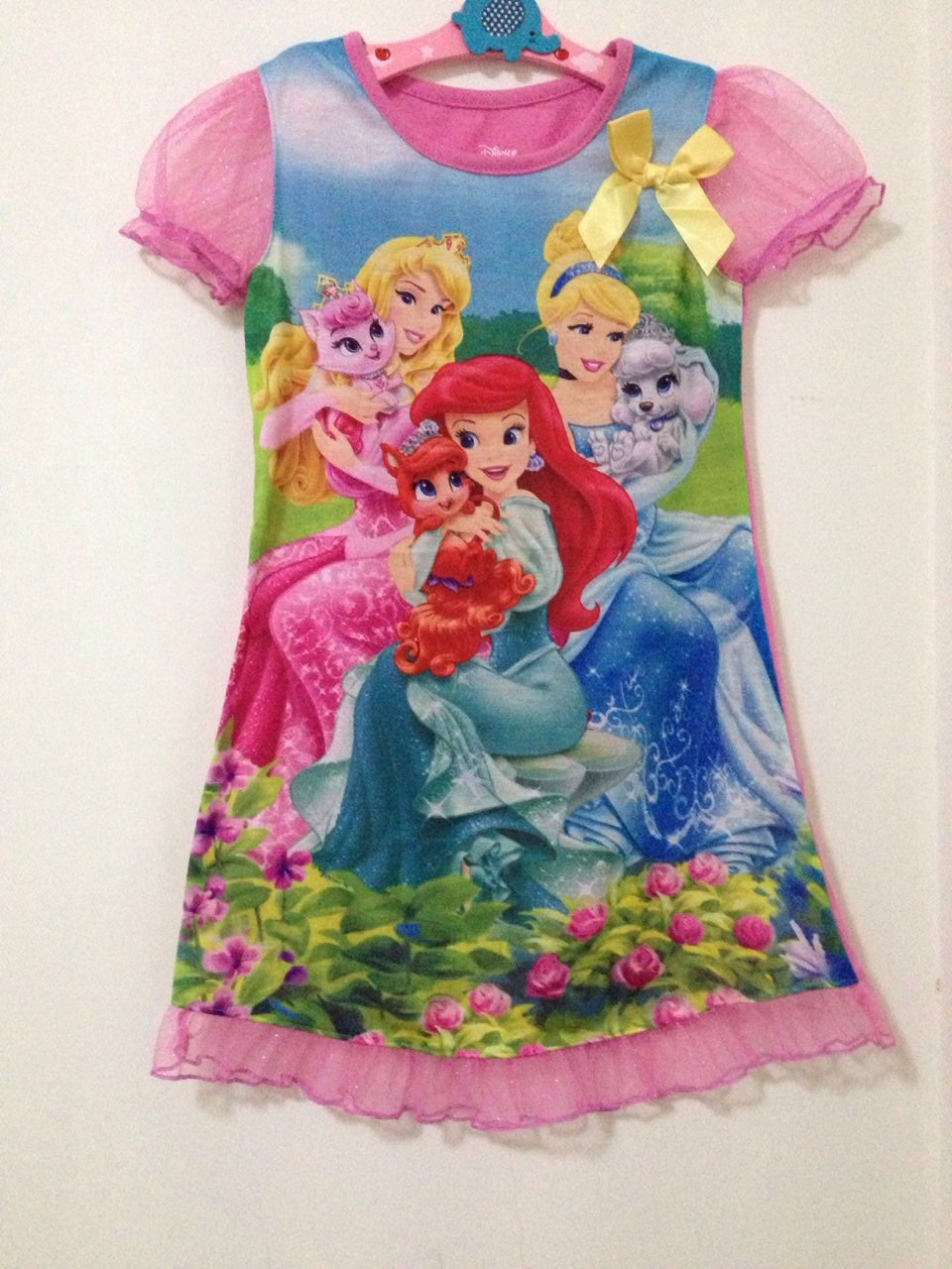 1PC Cartoon Elsa Little Pony Princess Cinderella Girls Dresses Summer Girls Dress Clothes Children Baby Boutique Clothing 0727(China (Mainland))