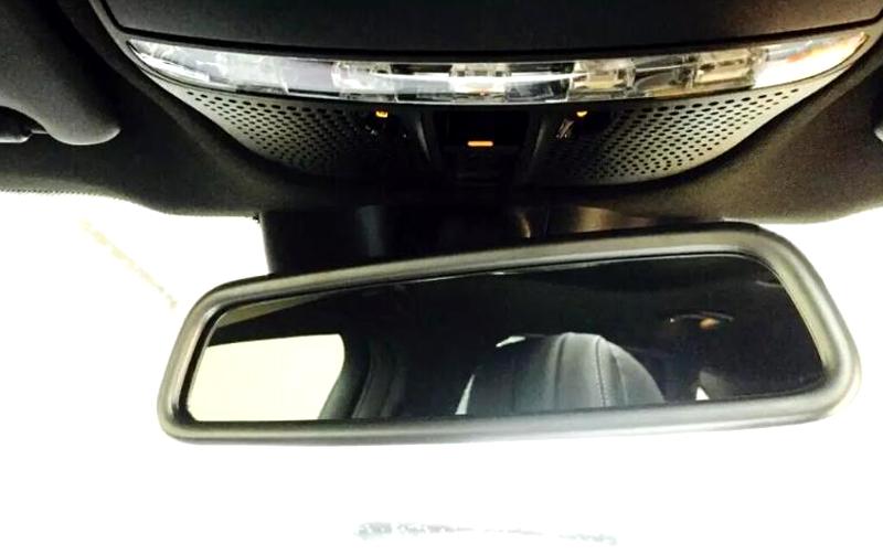 2015-2016 for Mercedes Benz GLC Class X205 Chrome Interior RearView Mirror Frame<br><br>Aliexpress