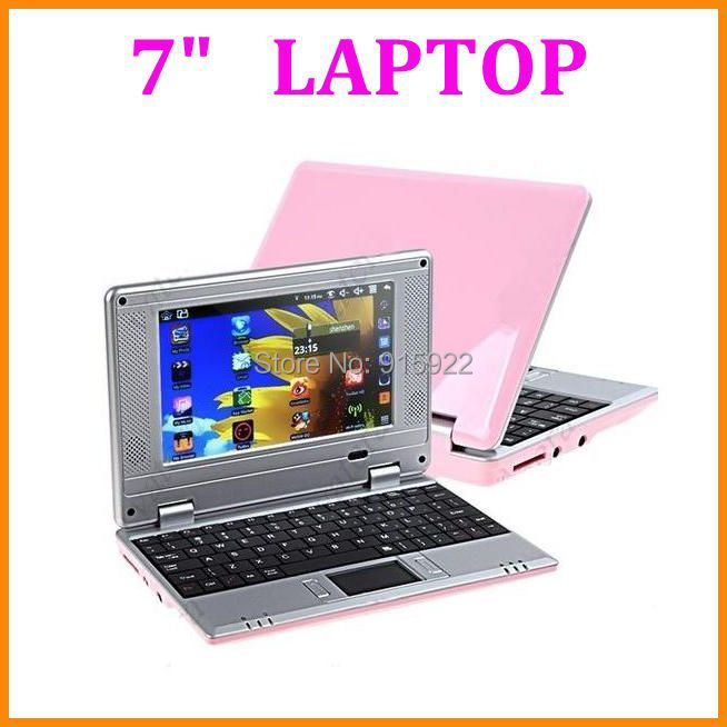 Hot cheap mini laptop netbook Dual Core VIA8880 Android 4.12 OS 512M/4GB HDMI Camera external 3G Support 5 colors available(China (Mainland))