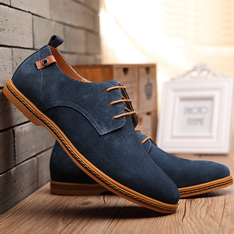 large size 38-48 men boots fashion men casual shoes New arrival leather shoes tide solid color winter boots botas SE05652(China (Mainland))