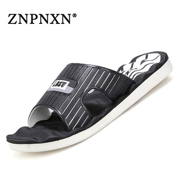 ZNPNXN 2016 New Brand Men Slippers Summer Casual Men Indoor Shoes Designer Home Shoes For Men Shoes Size 40-45