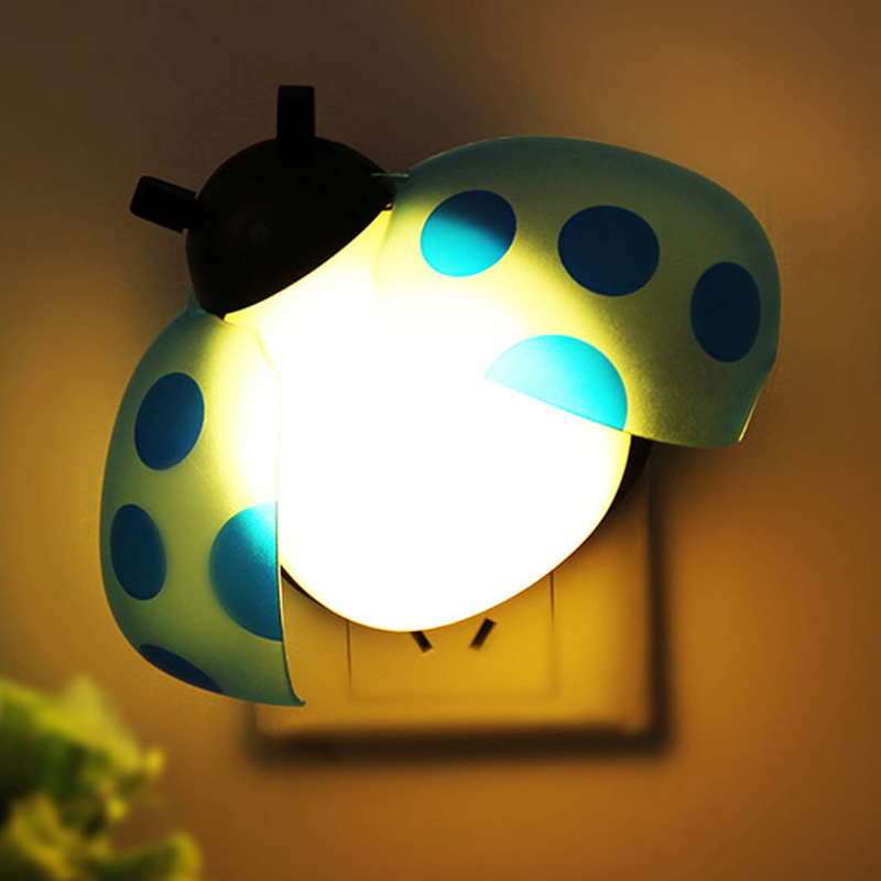High Grade Control Induction Direct Plug-In Wall Lamp Creative Cute Smart Beatles Shape LED Night Light Home Decoration<br><br>Aliexpress