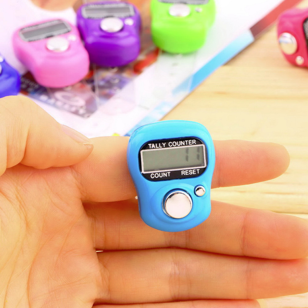 1X PC Stitch Marker And Row Finger Counter LCD Electronic Digital Tally Counter Hot Worldwide(China (Mainland))