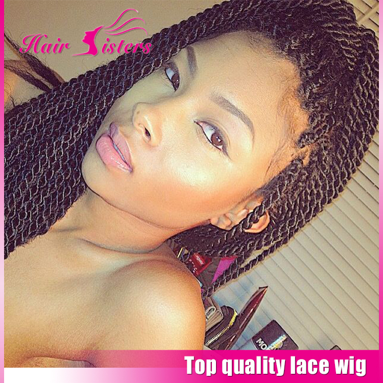 New LOOK! Fashion Braided Lace Front Wigs Box Thick Full Hand Braided Synthetic Hair Micro Braided Wigs For Nlack Women In Stock<br><br>Aliexpress