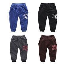 Korean boy pants for spring 2 to 7 T children sport running pants for boy cotton harem pants(China (Mainland))