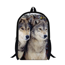 Buy Cool Wolf 3D printing school backpacks boys,fashion animal design back pack teenagers,stylish day pack girls travel for $19.97 in AliExpress store