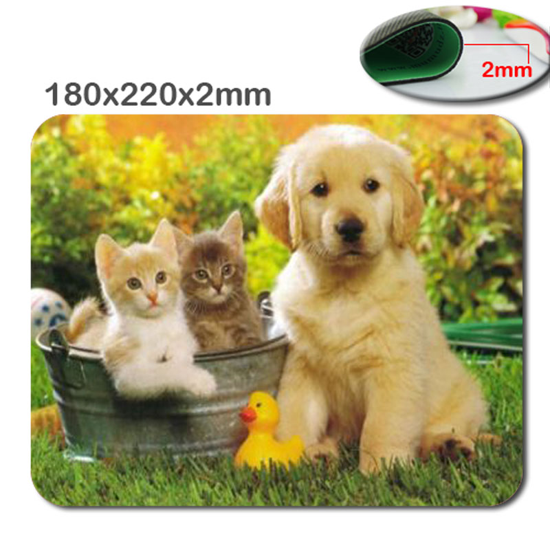 Custom Personalized Computer Decoration dog cute animals Rectangle Mouse Pad Notre Dame Rectangle Non-Slip Mousepad Water...(China (Mainland))