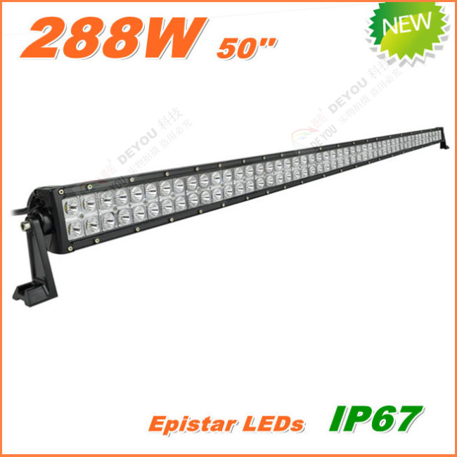 Free Shipping New 288W LED Work Light Bar 12V 24V IP67 Flood Spot beam For 4WD 4x4 Off road Light Bars TRUCK BOAT TRAIN BUS(China (Mainland))