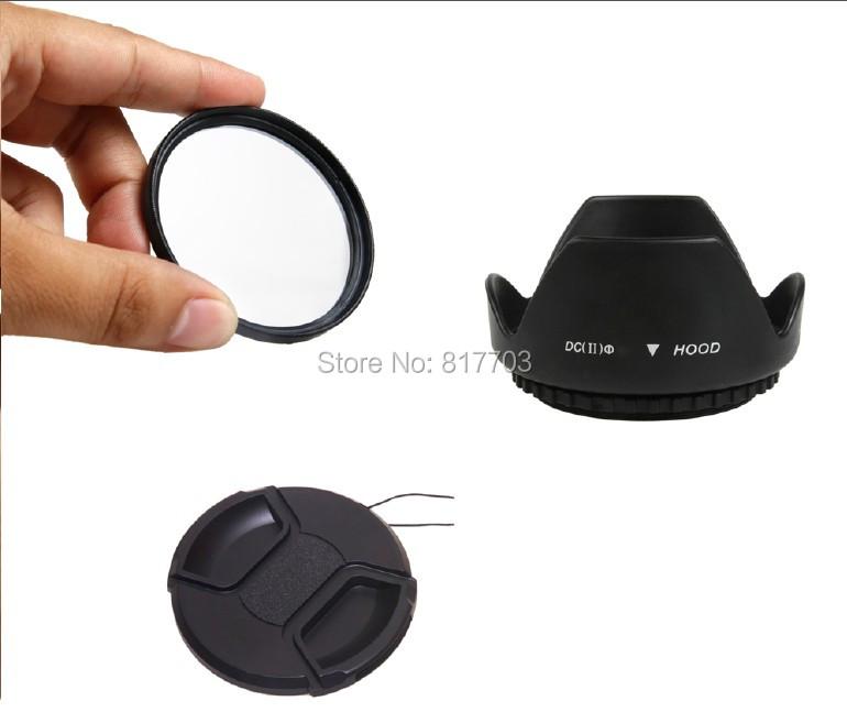 49-52-55-58-62-67-72-77-82mm Flower Lens Hood +UV Filter +Lens Cap for Canon EOS 550D 500D 600D 1100D Nikon D50 D7000 D3100 DSLR<br><br>Aliexpress