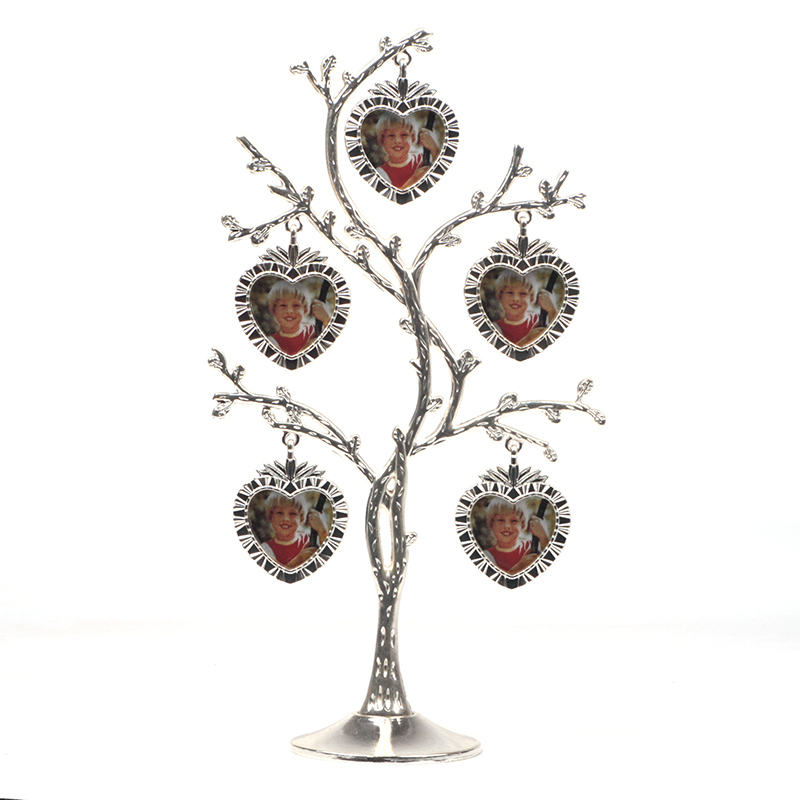 2015 modern New Arrival - Pewter Photo Frames Family / Baby Tree picture frame Design 5 Photos High Quality Perfect Gift(China (Mainland))