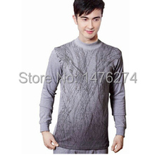 Men 's  thermal underwear long johns  gray color  haveM/L/XL/XXL #3306(China (Mainland))