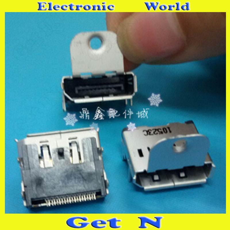 100pcs  Display Connector DP Female MOLEX Original DP Jack with Ear and Screw Hole 20Pins DIP Pins Notch Down<br><br>Aliexpress