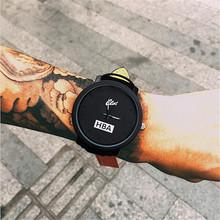 Fashion Brand HBA Leather Strap Unisex Watches Men Quartz Women Watch Sports Military Relojes Geneva Wristwatch