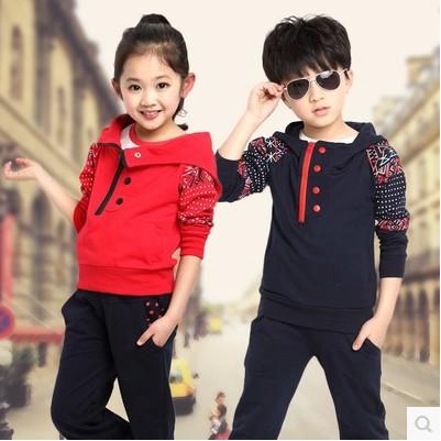 2015 New Arrival Spring&amp;Autumn Children Clothing Set Baby Boy&amp;Girl Oblique Zipper Hoodies+Pants 2pcs Active Sports Suits<br><br>Aliexpress
