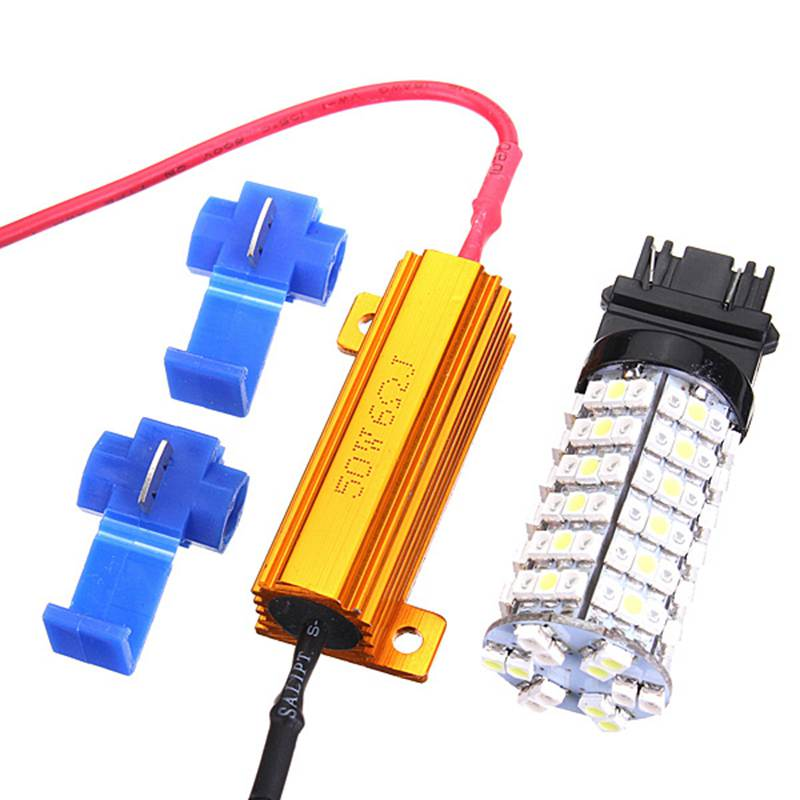 Excellent Quality T25 3157 Dual Color Switchback White Amber 120 LED Car Auto Turn Signal Light Lamp Bulbs with Resistors<br><br>Aliexpress