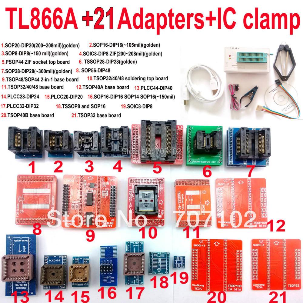 Original TL866A Universal minipro programmer +21 adapters + IC clip CLAMP TL866 AVR PIC Bios 51 MCU Flash EPROM Programmer(China (Mainland))