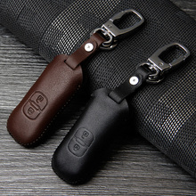 High Quality car genuine leather key cover mazda 3 323 mazda 6 2 5 mazda CX-5 CX-7 CX-9 RX8 Atenza Axela car key keychain cover