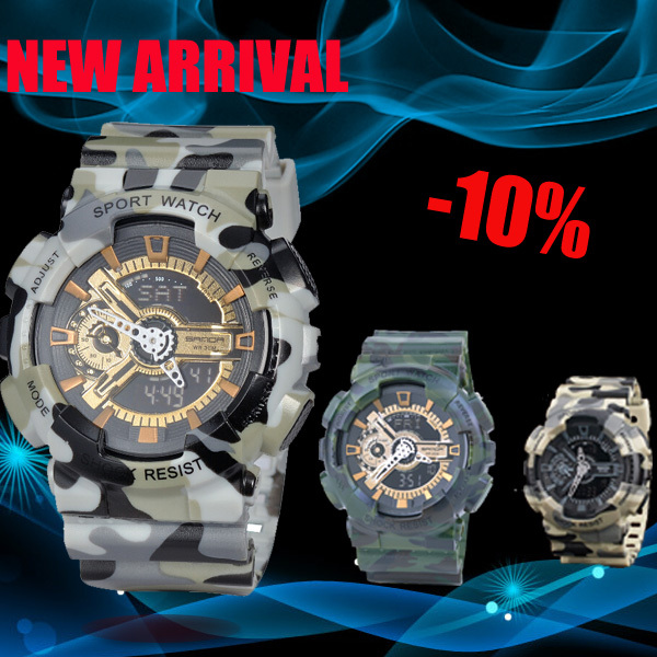 Men's Army Sports Watches Military Watch Led Digital LED Multifunction Summer Style Outdoor Sports Watch Mountaineering Watches(China (Mainland))