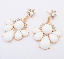 Estrela brincos para mulheres pingente de pedra de cristal flor Dangle brinco brincos gota de água