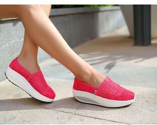 2015 Women Fashion Lace Comfortable Breathable Casual Platform Casual Elevator Shoes Tonetm Skylar Footwear(China (Mainland))