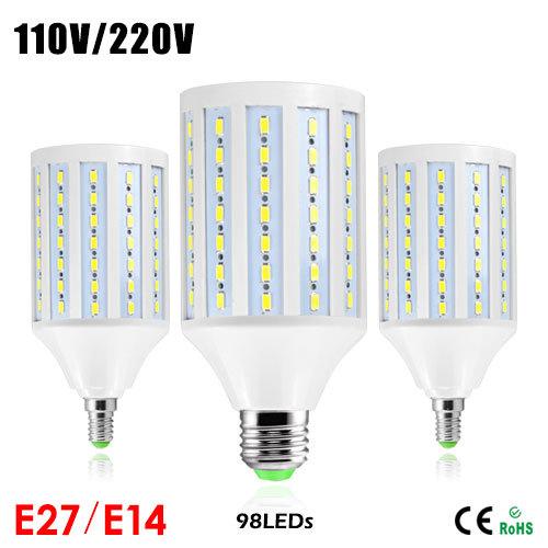 1Pcs 2015 Full New Super Bright 30W LED Corn lamp 98LED E27 110V / 220V LED Bulb Samsung 5730SMD Pendant light for Home lighting(China (Mainland))