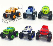 1 piece  blaze cartoon Monster car machine  children toy scooter with original box free shipping(China (Mainland))