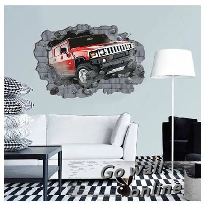 Best Selling Wholesale 3D Football+Crazy Car Children Wall Sticker Living Bed Room Stickers Wall adesivo de parede Decals Mural(China (Mainland))