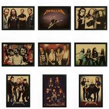 Buy Vintage Retro rock band music Guitar Matte Poster Wall Sticker Home Decora Metallica part 2 for $1.50 in AliExpress store